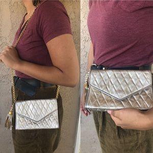 Gold metallic Chanel bag
